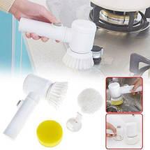 Электрическая щетка для уборки Magic Brush 5 in 1 с насадками | Универсальная щетка для уборки, фото 3