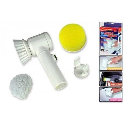 Электрическая щетка для уборки Magic Brush 5 in 1 с насадками | Универсальная щетка для уборки, фото 2