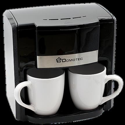Кофеварка Domotec MS 0708 220V на 2 чашки   Автоматическая кофемашина, фото 2
