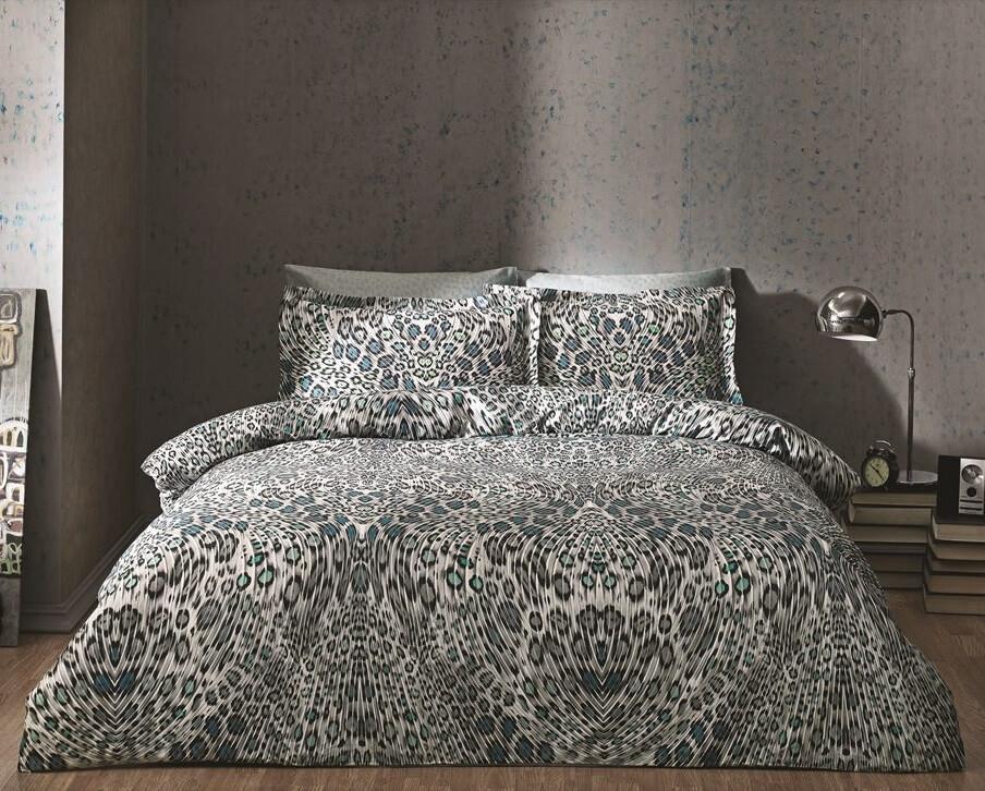 Двуспальное King Size постельное белье TAC Asente Сатин-Digital