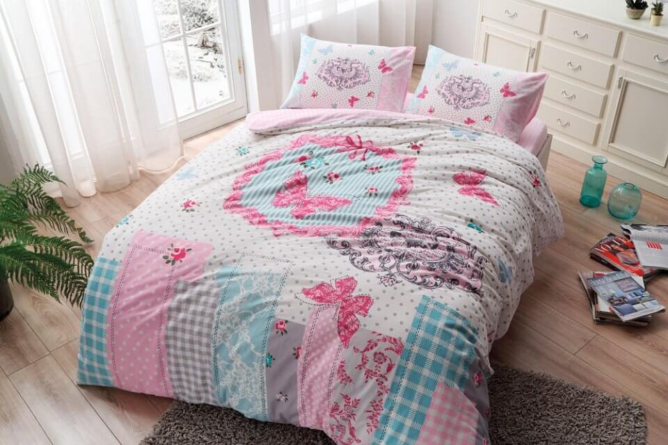 Полуторное постельное белье TAC Butterfly Фланель