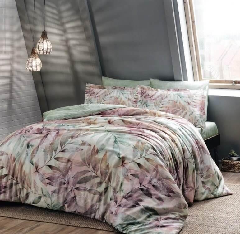 Двуспальное евро постельное белье TAC Biella Сатин-Digital
