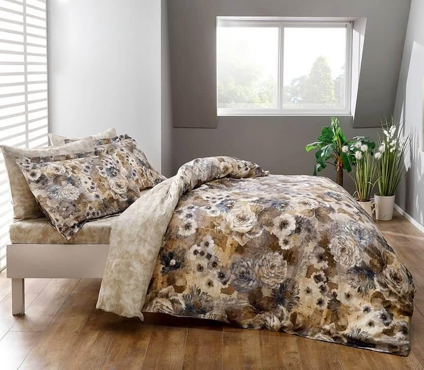 Полуторное постельное белье TAC Avalon Сатин-Digital