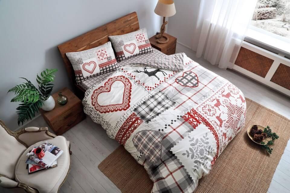 Полуторное постельное белье TAC Savina Фланель