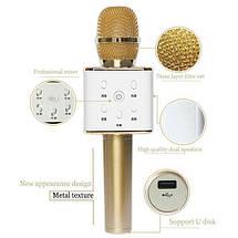 Бездротовий мікрофон-караоке Q7 в коробці   Рожевий, фото 3