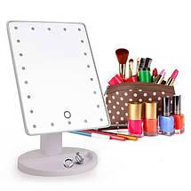 Косметическое зеркало для макияжа с подсветкой Magic Makeup Mirror | Прямоугольное зеркало | Черное, фото 3