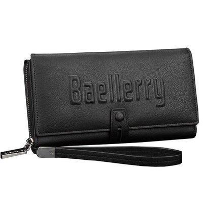Портмоне BAELLERRY S1393 | Чоловічий гаманець | Чоловічий клатч | Чорний
