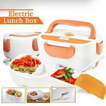 Ланч-бокс с функцией подогрева еды от сети Electric lunch box | Синий, фото 3