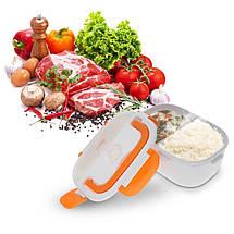 Ланч-бокс с функцией подогрева еды от сети Electric lunch box | Синий, фото 2