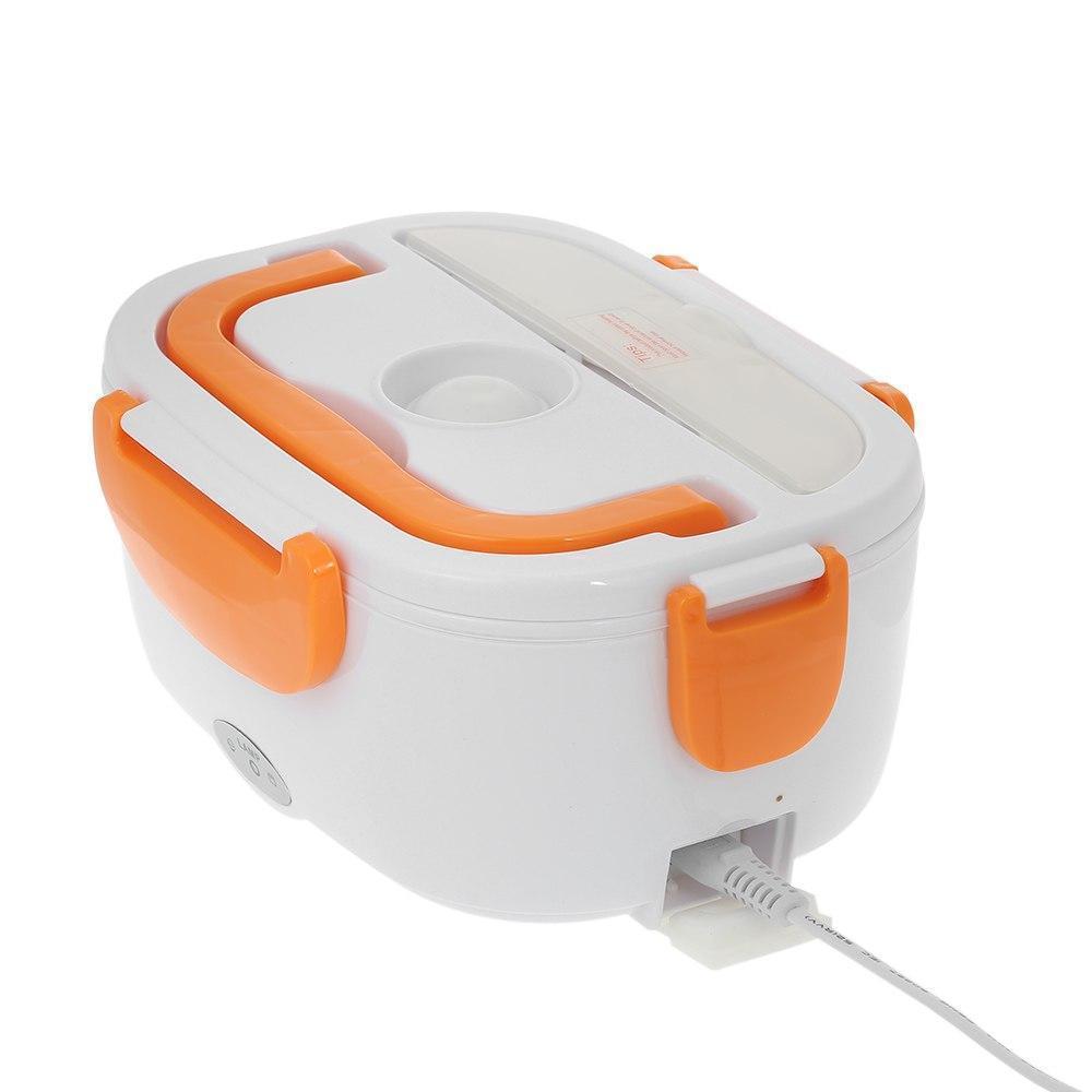 Ланч-бокс с функцией подогрева еды от сети Electric lunch box | Оранжевый