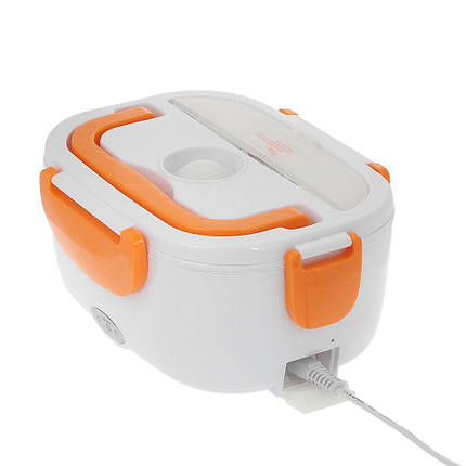 Ланч-бокс с функцией подогрева еды от сети Electric lunch box | Оранжевый, фото 2