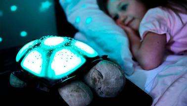 Проектор нічник зоряного неба Черепаха Turtle Night Sky   Коричневий, фото 2