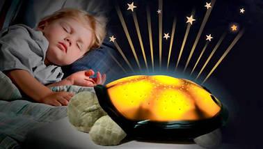 Проектор нічник зоряного неба Черепаха Turtle Night Sky   Коричневий, фото 3