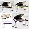 Складной столик подставка для ноутбука Multifunction Laptop Desk | Зеленый, фото 5