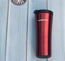 Термокружка Starbucks-3 500 мл | Тамблер Старбакс | Термос | Красная, фото 2