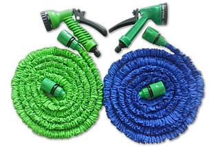Шланг садовий поливальний X-hose 15 метрів | Шланг з Водораспылителем | Синій, фото 3
