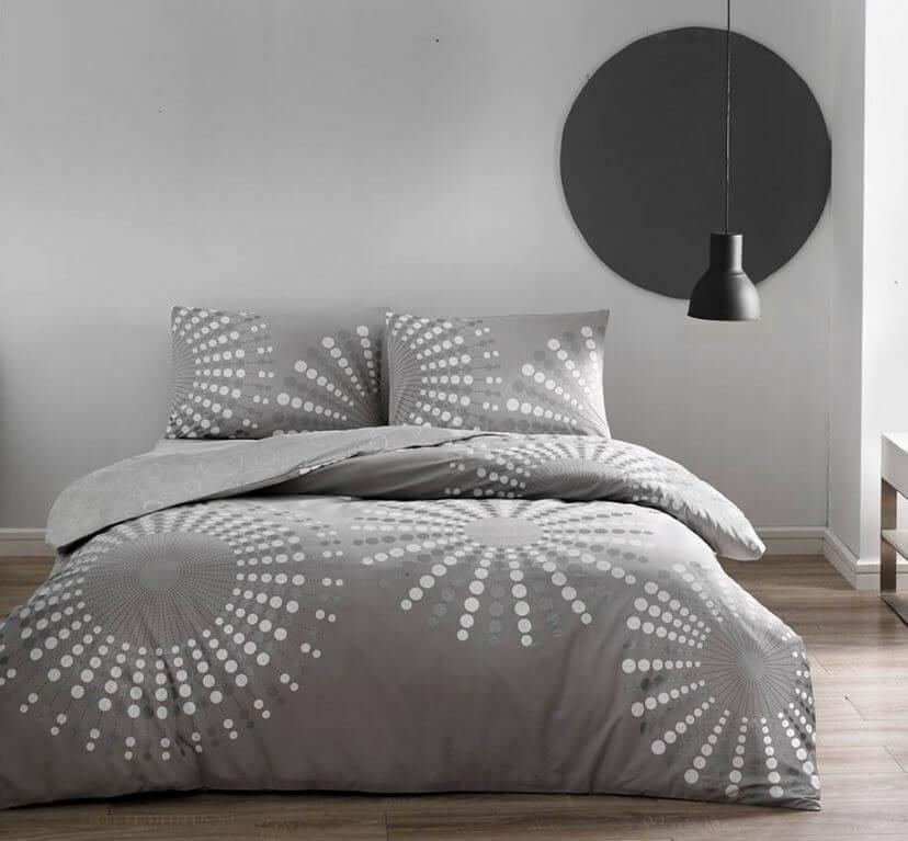Двуспальное евро постельное белье TAC Moon Ранфорс / простынь на резинке