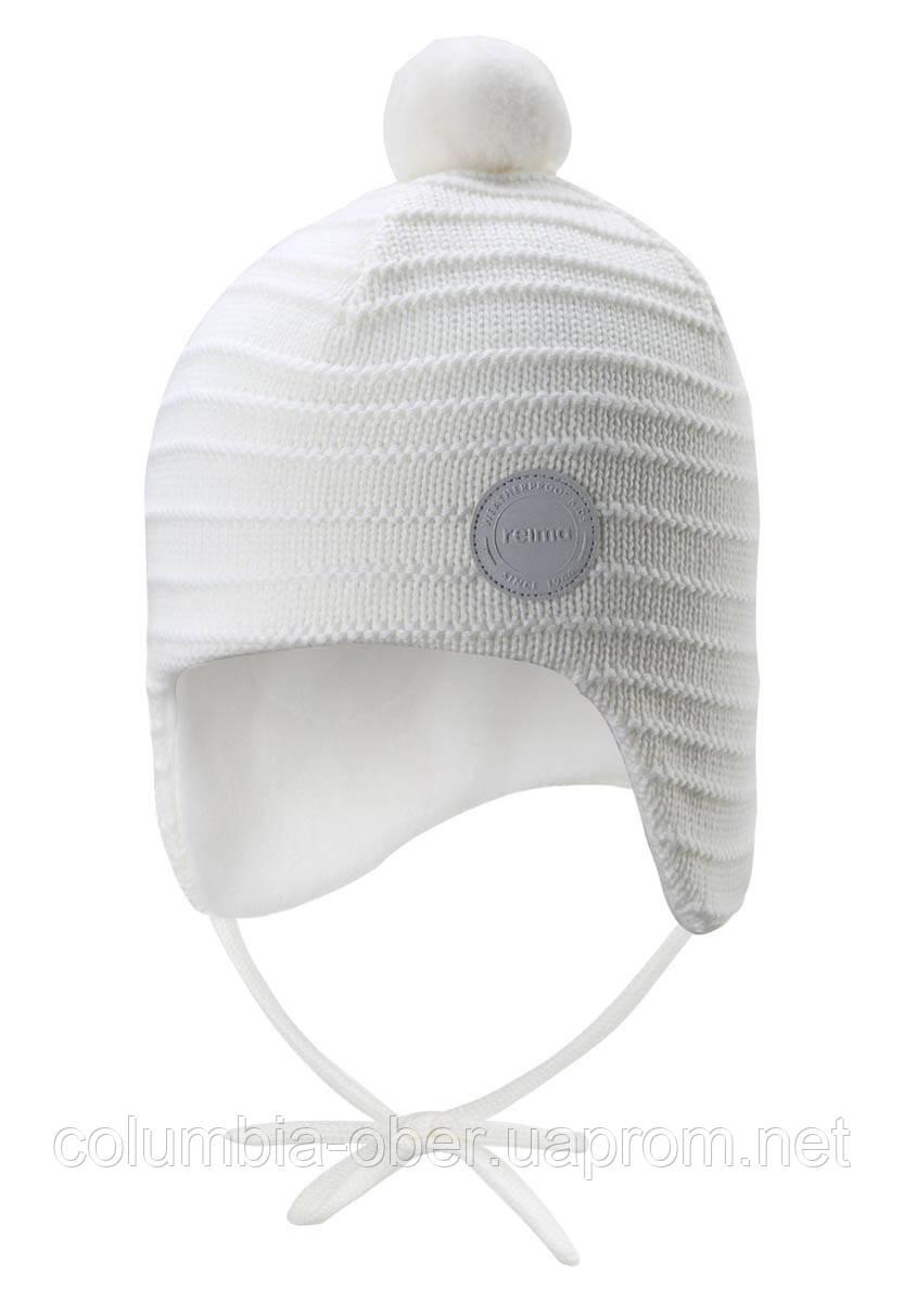 Зимняя шапка-бини для девочки Reima Ainoa 518538-0100. Размеры 46 - 52.