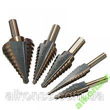Сталь HSS з кобальтовим покриттям Набір ступінчастих свердел 5шт ( 3мм-35мм )