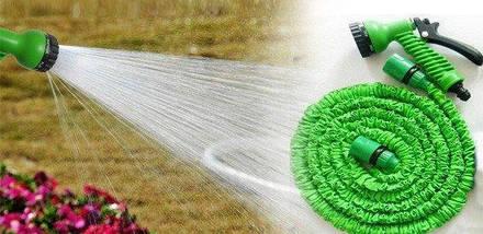 Шланг садовий поливальний X-hose 45 метрів   Шланг з Водораспылителем   Зелений, фото 3