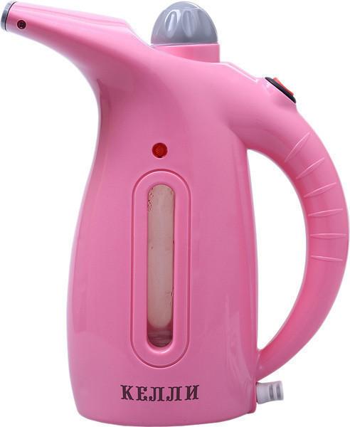Ручной отпариватель для одежды KELLI KL-317 | Пароочиститель для одежды | Розовый