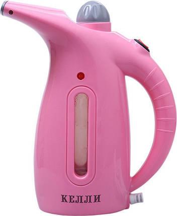 Ручной отпариватель для одежды KELLI KL-317 | Пароочиститель для одежды | Розовый, фото 2