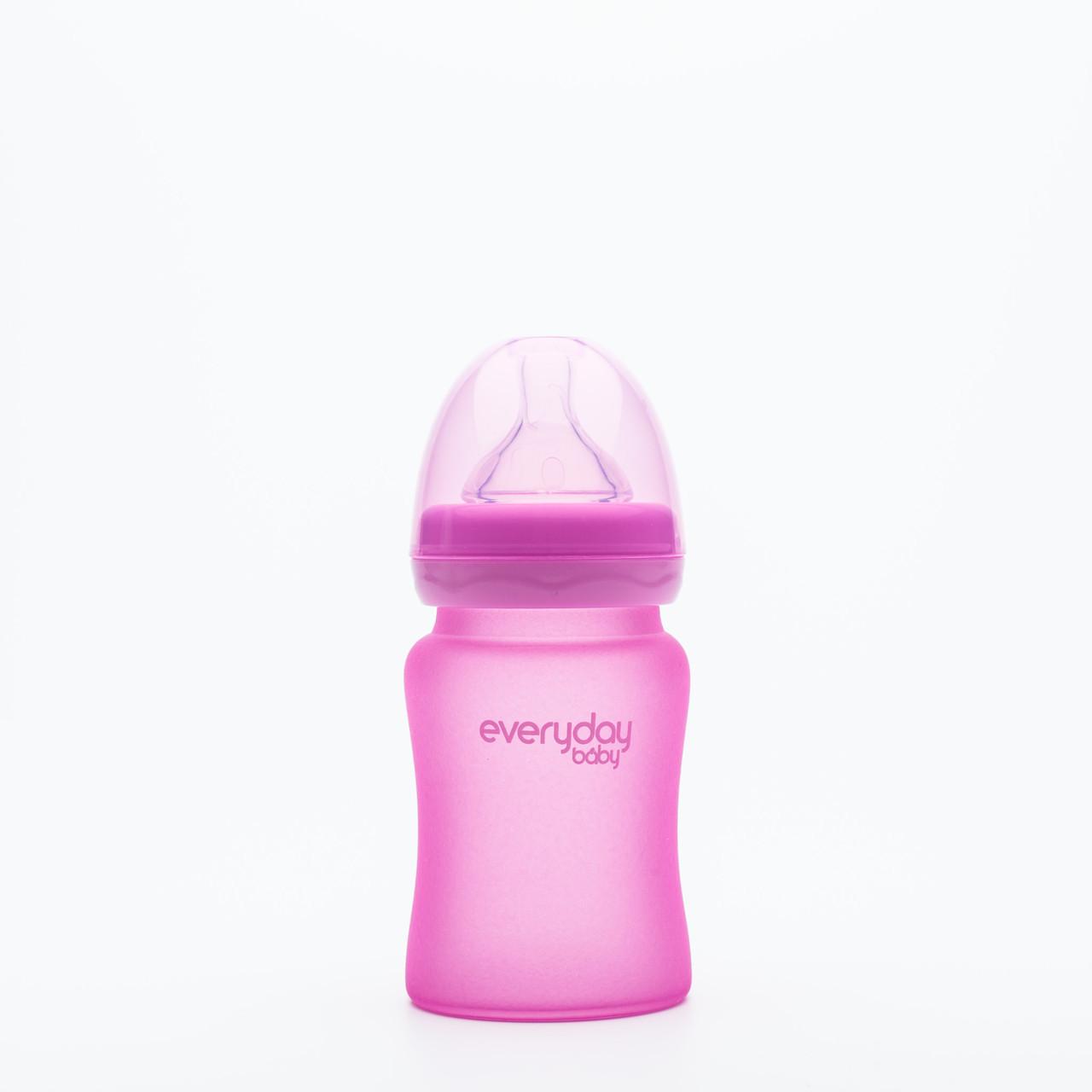 Стеклянная термочувствительная детская бутылочка EverydayBaby 150 мл