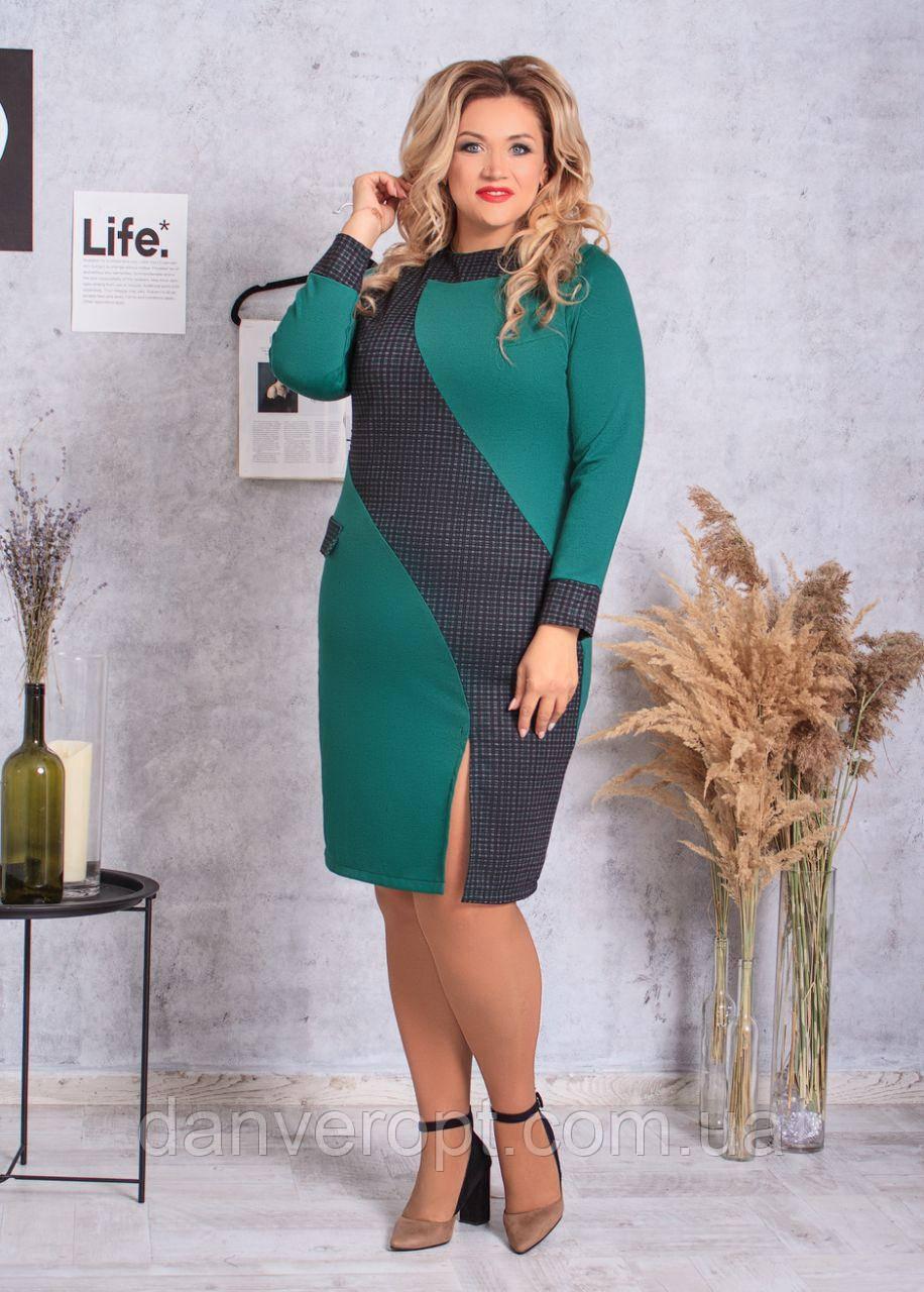 Платье женское модное стильное размер 52-58 купить оптом со склада 7км Одесса