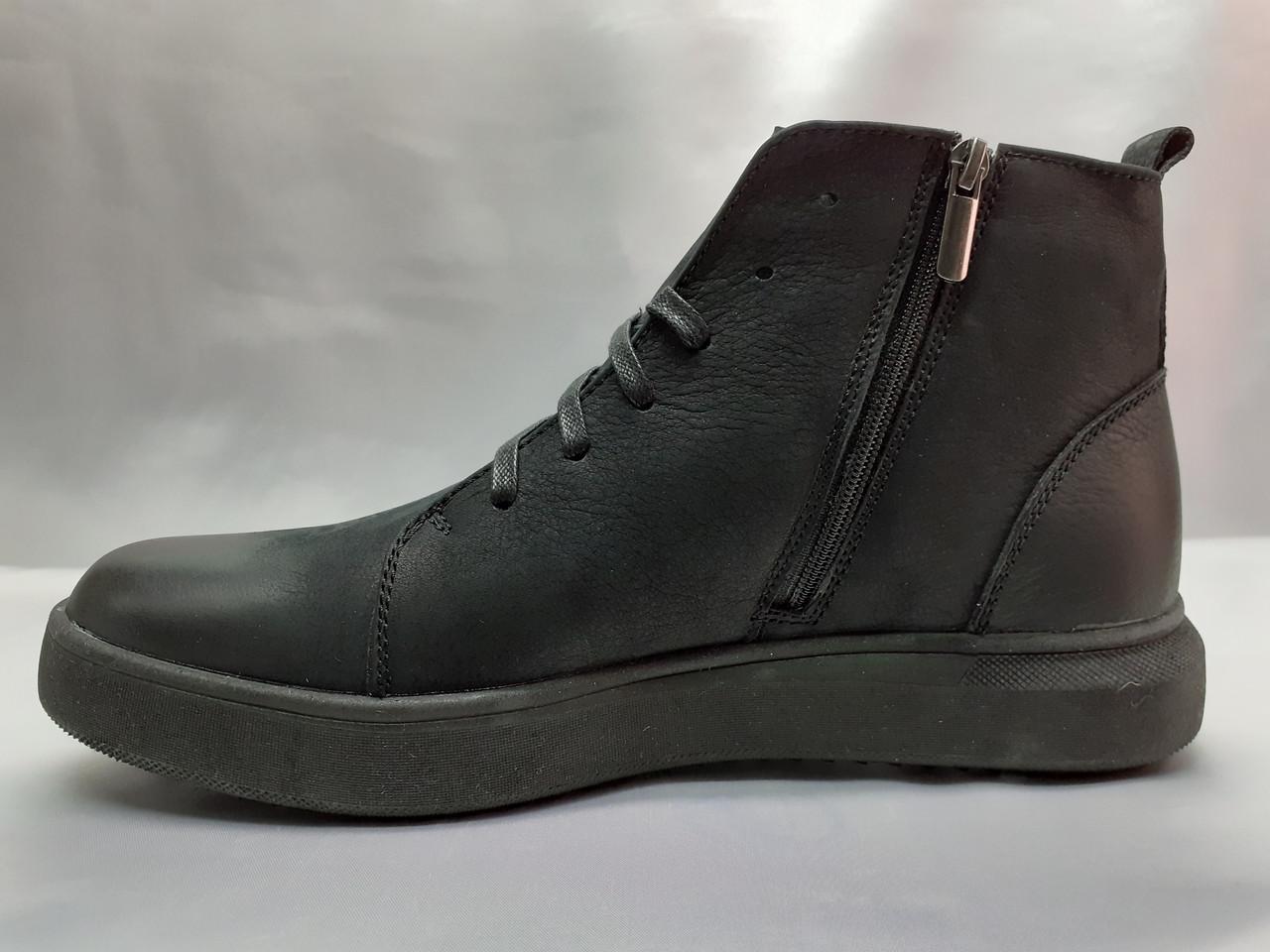 Стильные зимние нубуковые ботинки под кеды на молнии Madoks