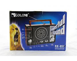 Радио Golon RX 951 FM цифровой радиоприёмник с большим динамиком MP3, фото 3