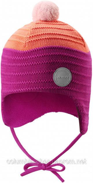 Зимняя шапка-бини для девочки Reima Ainoa 518538-4651. Размеры 46 - 52.