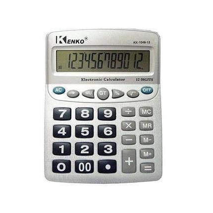 Калькулятор великий настільний KENKO KK-1048, фото 2