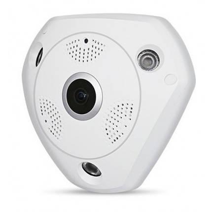 Панорамная IP Камера Видеонаблюдения на потолок CAD 1317 VR CAM 3D Wi-Fi DVR, фото 2