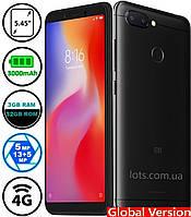 Смартфон Xiaomi Redmi 6 3/32Gb Black MIUI 10 (Сертифицирован в Украине UCRF) + Стекло в подарок