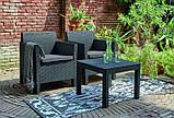 Набор садовой мебели Orlando Balcony Set Graphite ( графит ) из искусственного ротанга ( Allibert by Keter ), фото 9