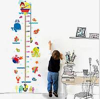 Интерьерная наклейка на стену Детская - Ростомер Водный Мир