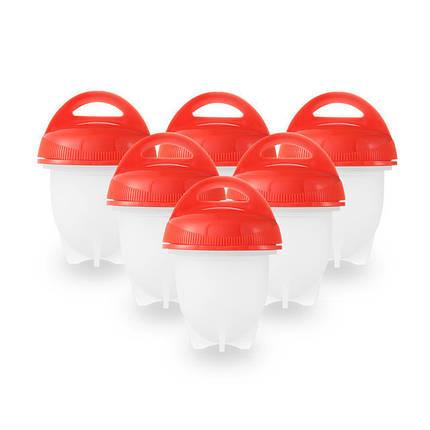 Набор для варки яиц без скорлупы 6 шт | Силиконовые формы для варки яиц, фото 2
