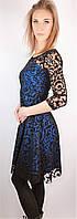 Платье женское, бархатный ажурный верх.Турция!