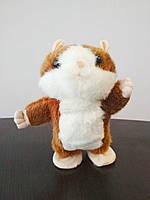 Говорящий хомяк-повторюшка бегающий Mimicry Pet Toys коричневый