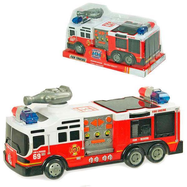 Пожежна машина SD-012D з звуковими ефектами і 3D світінням сигнальної мигалки