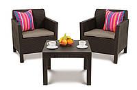 Набор садовой мебели Orlando Balcony Set Brown ( коричневый ) из искусственного ротанга, фото 1