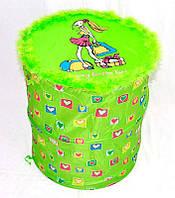Корзина для игрушек Зеленая