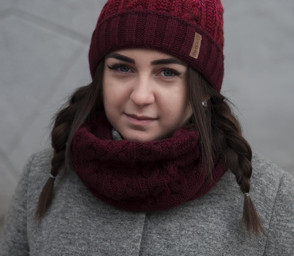 Зимний шарф снуд для девочки