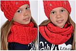 Зимний шарф снуд для девочки, фото 6