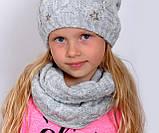 Зимний шарф снуд для девочки, фото 8