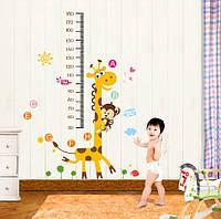 Ростомер, интерьерная наклейка на стену Детская - Жираф