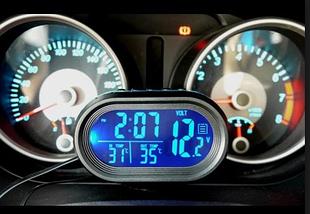 Многофункциональные автомобильные электронные часы VST 7009V, фото 2
