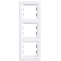 Рамка трехкратная вертикальная белая ASFORA Schneider electric EPH5810321