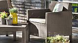 Набір садових меблів Orlando Balcony Set Cappuccino ( капучіно ) з штучного ротанга (Allibert by Keter), фото 10