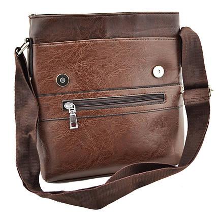 Мужская сумка через плечо JEEP 866 BAGS | Коричневая, фото 2